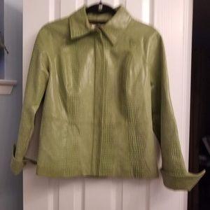 Vintage AMI Green Leather Jacket